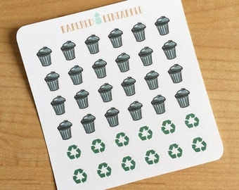 Trash & Recycle Stickers