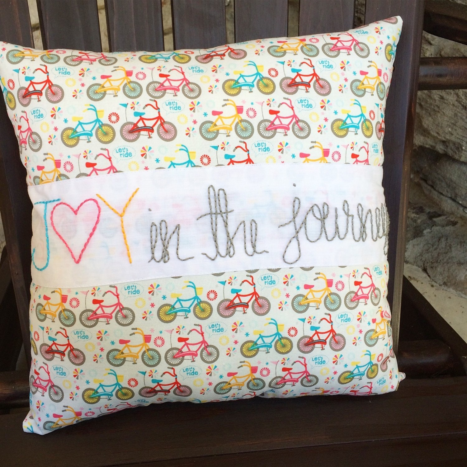 Joy in the journey Decorative Pillow