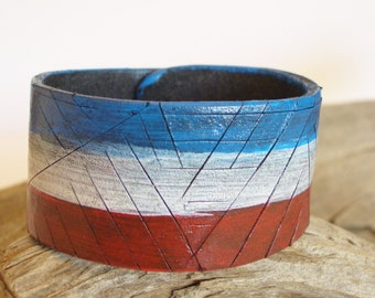 LEATHER CUFF - Americana Collection
