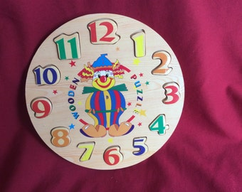 Clown Clock Puzzle by puggllup