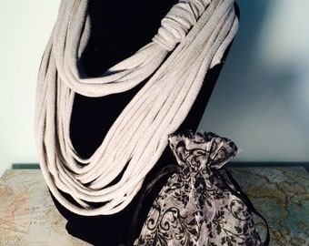 Handcrafted Multi-Strand Infinity T-Shirt Scarf with Gift Bag