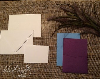 DIY Wedding Invitation Suite - Back Pocket Design