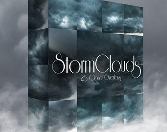 Storm Cloud Overlays ~ 25 High Resolution JPEG Images