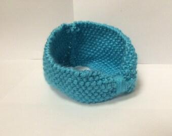 Teenage/Adult Turquoise Seed Stitch Headband