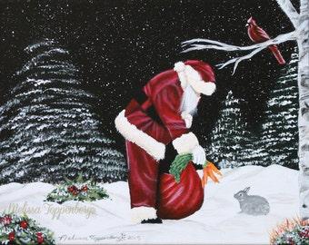 Folk Art Christmas Painting, Christmas Painting