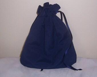 Civil War/Victorian/SASS Ladies Drawstring Purse Blue