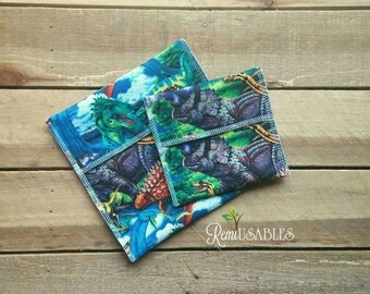 Dinosaur sandwich bag, reusable lunch bag, unplastic snack bag, waterproof lunch bag, ecofriendly, lunch bag