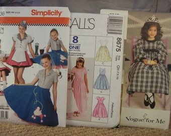 3 Uncut Girl's Sewing Patterns