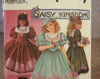 Uncut Daisy Kingdom By Simplicity 8314 Girl's Sizes 7-10