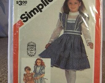 Uncut Girl's Dress Patterns Simplicity 5862