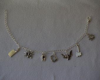 Gothic Spider Charm Bracelet