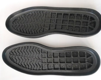 Soles / Rubber soles black for your own projects /  Soles boots  /