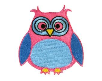 Cute Owl Bird Cartoon Embroidered Applique Iron On Patch