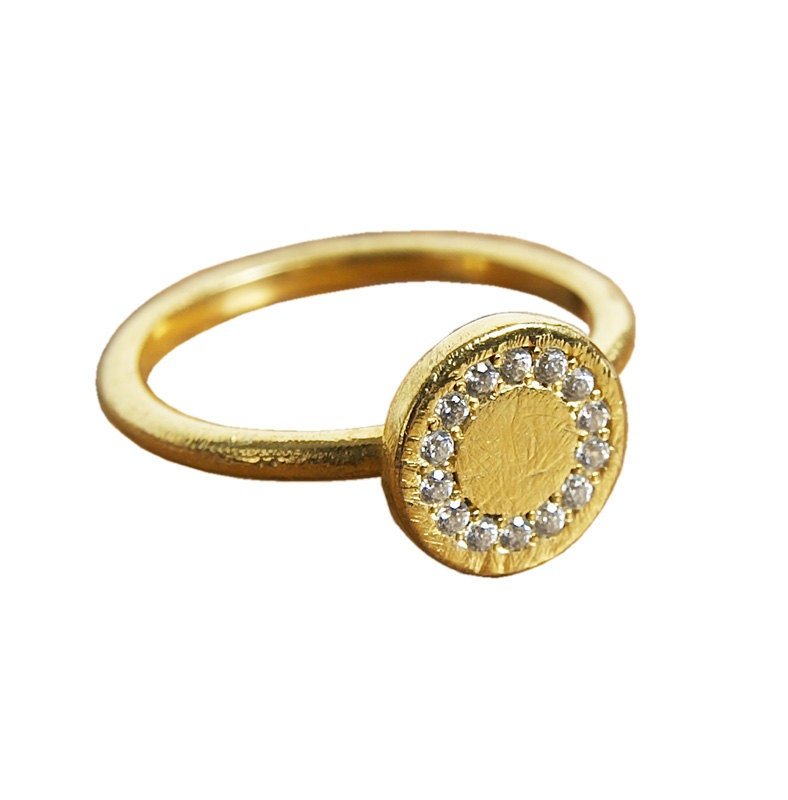 promise gold ring 18k solid yellow by