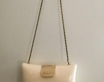 Cream Lucite purse