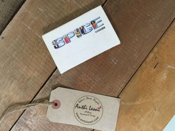 Spice Girls Cassette Tape - SPICE WANNABE - Vintage Girl Power - Original Spice Girl Music Tape with Slip Cover