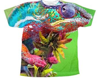 snake reptiles lizard iguana gecko pet all over printed t-shirt