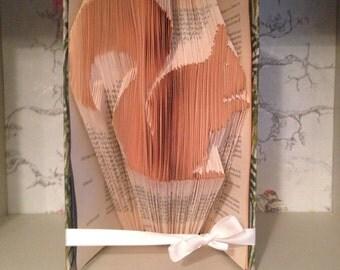 Folded Book Art Squirrel