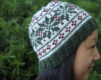Festive Snowflake Knit Hat   VegBethany
