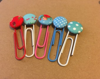 Vintage Inspired Button Paperclips