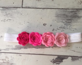 Ombre Felt Flower Crown - Newborn/Toddler Headband