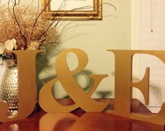 Charmant Home Decor Initials Letters Alluring Gold Letters Etsy Inspiration Design
