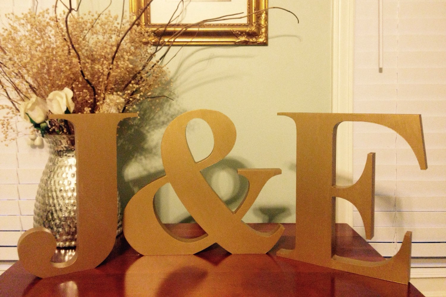 Standing letters gold letters monogram initials free for Free standing letters for decorating