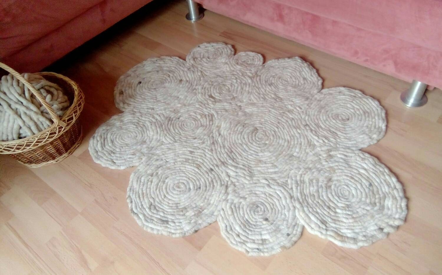 Wool Rug With Unique Design Accent Rug Rugs Area Rug