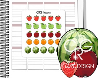 Fruit Stickers | Planner Erin Condren Plum Planner Filofax Sticker