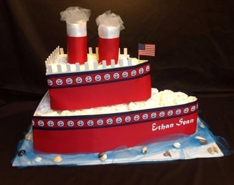 Nautical Themed Diaper Boat