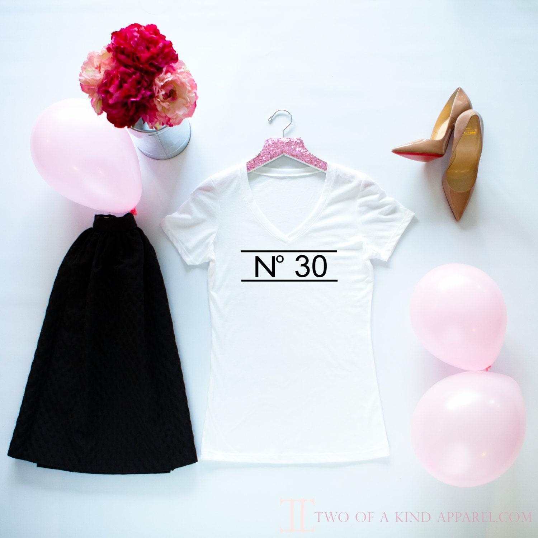 Women's 30th Birthday Shirt Chanel Inspired Thirtieth