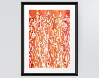 Fall Decor, Instant Download Art, Bedroom Art, Orange Autumn Leaves, Room Decor, Printable, INSTANT DOWNLOAD