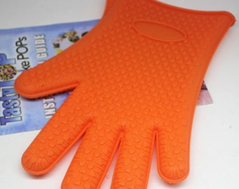 Silicone oven mitts single