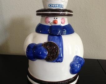 Oreo Cookie Jar Ceramic Collectors Item.
