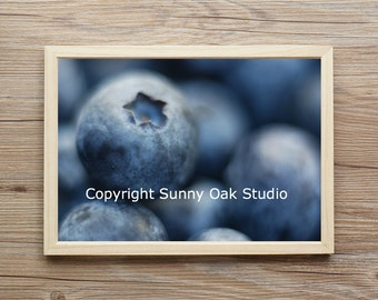 Photograph of blueberries, food photo, berries photo, fruit photo, food photo print, blueberries photo print, berries photo print