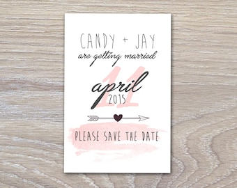 Coral Accents, Save The Date - PRINTABLE