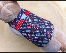 """Extra Small Dog Harness Shirt...Unisex.....""""Keep Calm, Carry On!"""" by Hawleywood Hound, Size XS 4-7 lbs"""
