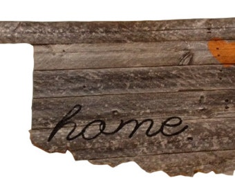 Rustic Fence wood Oklahoma home sign