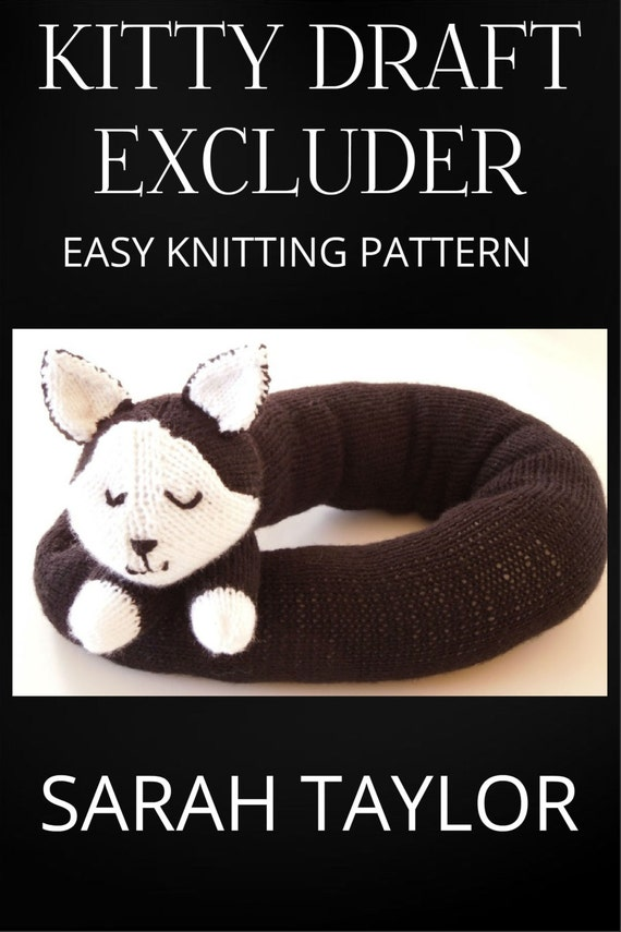 Knitting PATTERN - Kitty Draft Excluder/Draught Excluder ...