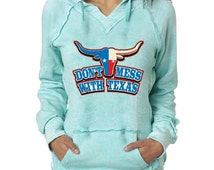 Don't Mess With Texas Burnout Hoodies Texas Lone Star Bull Stake Sweatshirt
