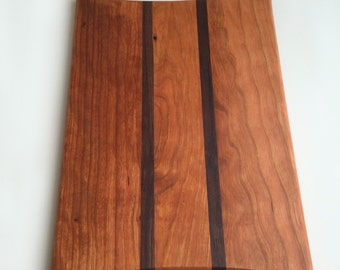 Contemporary Cherry Walnut Cutting Board