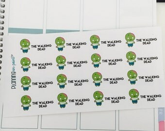 The Walking Dead Zombie Planner Stickers!