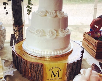 Custom Rustic Wedding Cake Stand - Mulberry