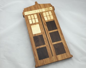 "Custom TARDIS Cutting Board 9"" x 17"", Bespoke"