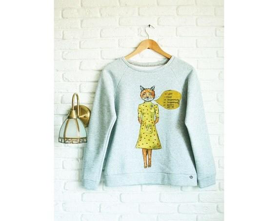 Fantastic Mr Fox Pullover für Frauen grau von ClothesWithSoul