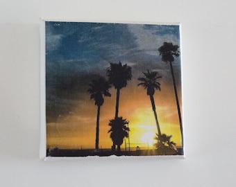 Sunset Canvas Fridge Magnet
