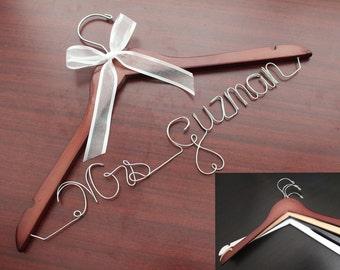 Wedding Dress Hanger, Wedding Hanger, Custom Wedding Hanger, Bridal Hanger, Personalized Wedding Hanger, Personalized Bridal Hanger