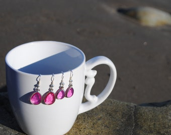 Teardrop Earrings [Pink or Blue]