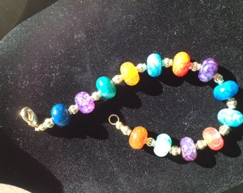 Brightly Colored Stones with Gold Tone Accents