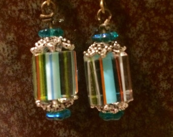 Glass Beaded Drop Earrings